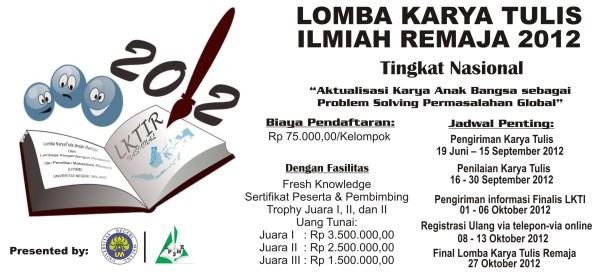 Lomba Karya Tulis Ilmiah (LKTIR) 2012